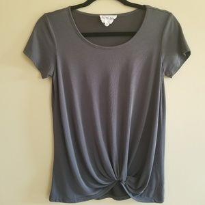Olive & Oak XS gray twist shirt